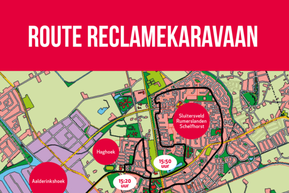Route Reclamekaravaan 2017